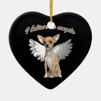 Angel Chihuahua Ceramic Ornament