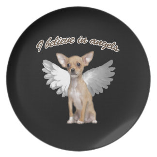 Angel Chihuahua Party Plate