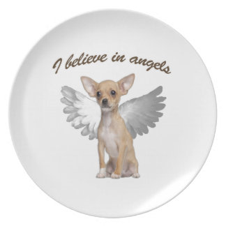 Angel Chihuahua Party Plates