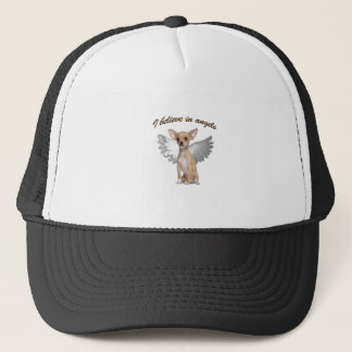 Angel Chihuahua Trucker Hat