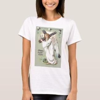 Angel Christian Cross Forget Me Not T-Shirt