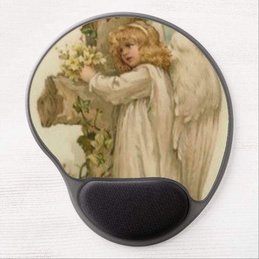 Angel Christian Cross Lily Leaf Gel Mouse Pads