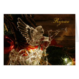 angel christmas, Rejoice - Greeting Card