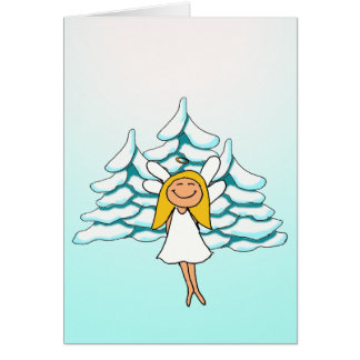 angel christmascard greeting card