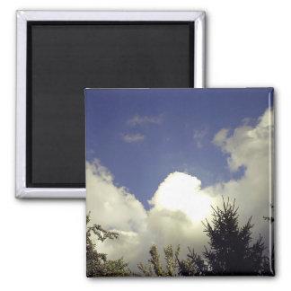 Angel Cloud Square Magnet