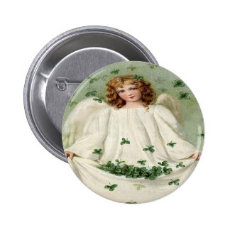 Angel Clover St. Patrick's Day Pin Button
