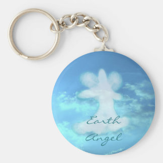 Angel Collection Basic Round Button Key Ring