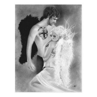 Angel couple Postcard