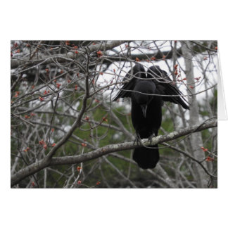 Angel Crow Greeting Card, Blank Inside Card