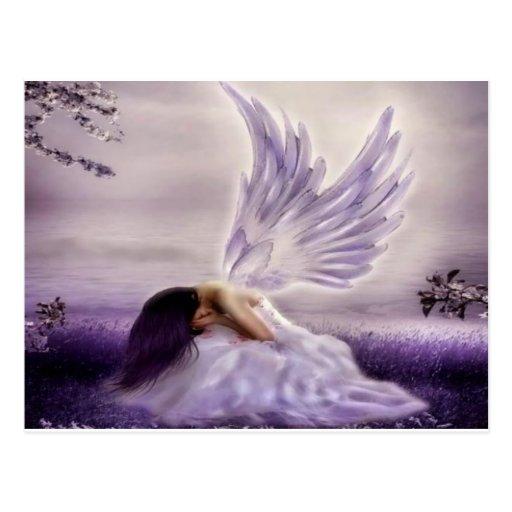 angel crying.jpg post card