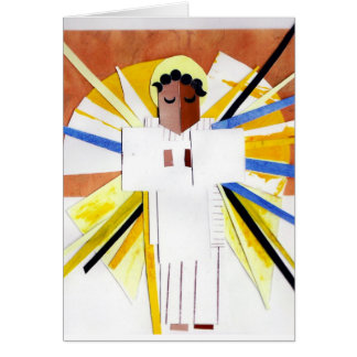 Angel Cubist Christmas Card