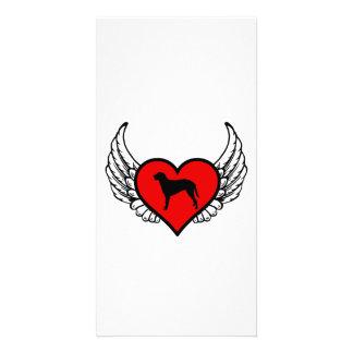 Angel Curly Coated Retriever dog winged Heart Photo Greeting Card