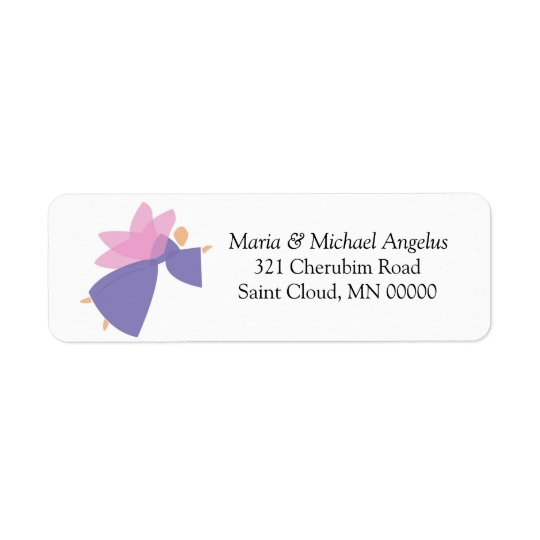 Angel Customised Merry Christmas Card Stickers Return Address Label