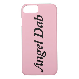 Angel Dab Clear Phone Case ( Pink )