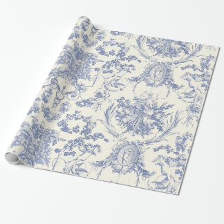 Angel Damask_Vintage Art Wrapping Paper