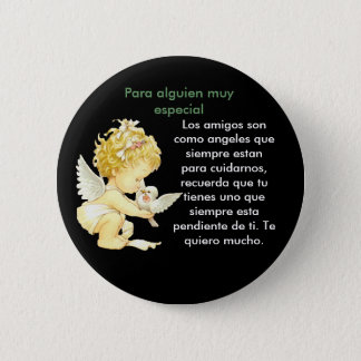 Angel de amistad 6 cm round badge