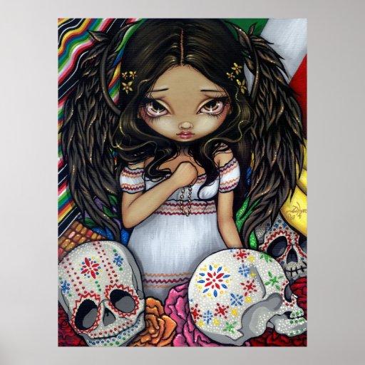 Angel de los Muertos Art Print day of the dead