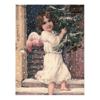 """Angel Delivery"" Vintage Christmas Postcard"