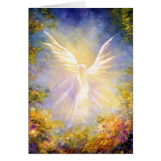 Angel Descending Fine Art Greeting Card