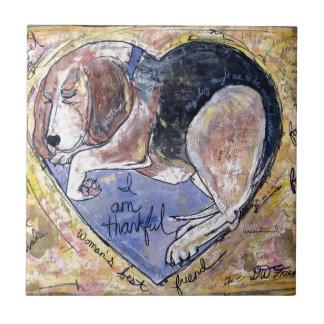 Angel Dog Ceramic Tile