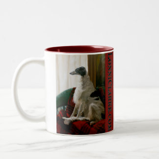 Angel Dog of the Universe Two-Tone Coffee Mug