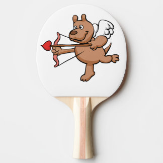 Angel dog ping pong paddle