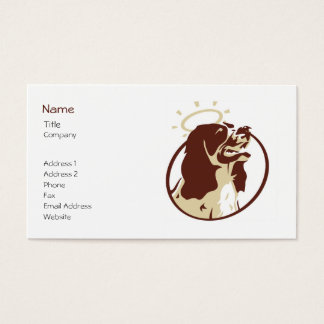 Angel Dog Profile Card Template