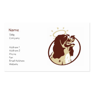 Angel Dog Profile Card Template Double-Sided Standard Business Cards (Pack Of 100)