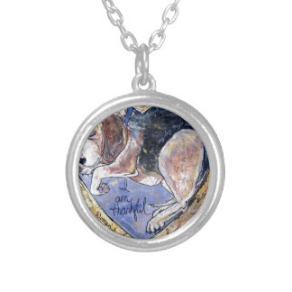 Angel Dog Silver Plated Necklace