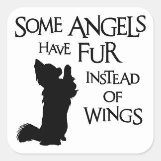 ANGEL DOG SQUARE STICKER