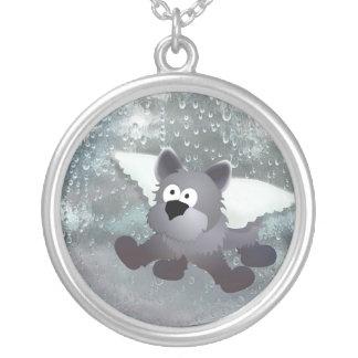 Angel Dog Talisman Personalized Necklace