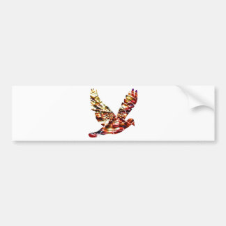 Angel Dove - Sparkling Red Cosmic Energy Bumper Sticker