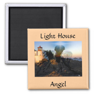 Angel Down By The Sea Square Magnet