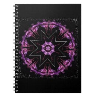 angel, dreams, flight, girl, caledoscopio spiral note book