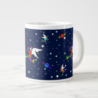 Angel Dudes Starry Night (Midnight) Large Coffee Mug
