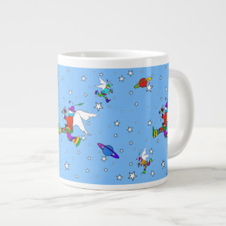 Angel Dudes Starry Night (SkyBlue) Large Coffee Mug