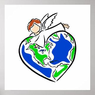 Angel Earth Print