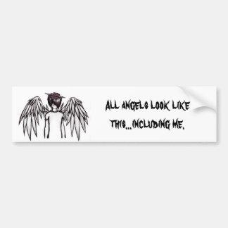 Angel Emo Bumper Sticker