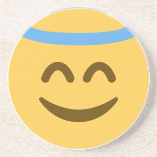 Angel Emoji Sandstone Coaster
