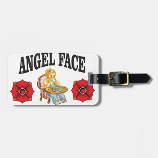angel face child luggage tag
