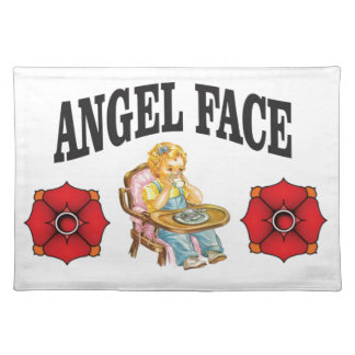 angel face child placemat