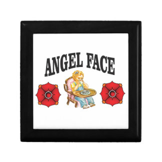angel face child small square gift box