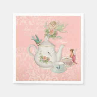 Angel Fairy Teapot Tea Cup Party Baby Shower Decor Paper Serviettes