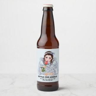 """ANGEL FANTASY Beer Bottle Label (4"""" x 3.5"""")"""