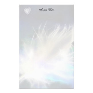 Angel Feather and Heart! Customized Stationery