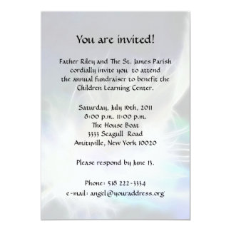 Angel Feather Fundraiser 5x7 Paper Invitation Card