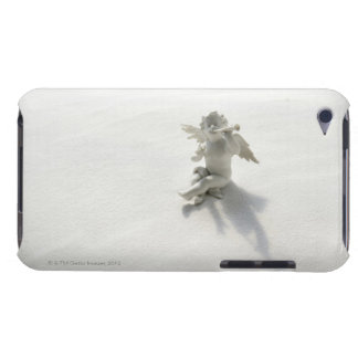 Angel figurine with musical instruments on white barely there iPod cover