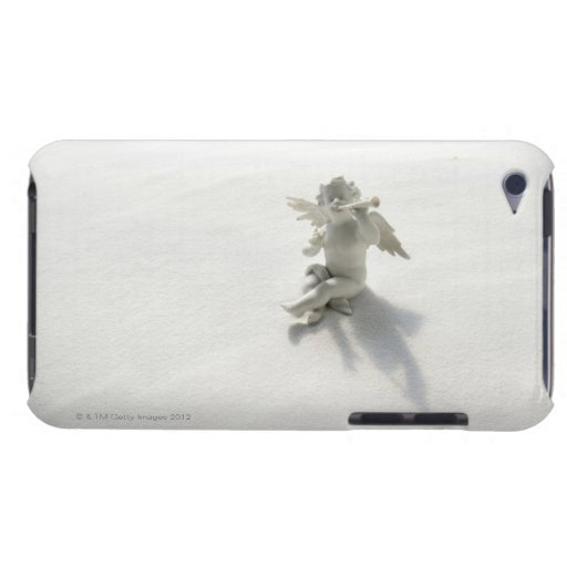 Angel figurine with musical instruments on white iPod touch Case-Mate case