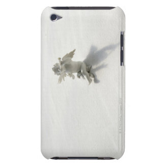 Angel figurine with musical instruments on white iPod touch cases