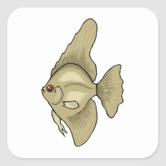 Angel Fish Square Sticker